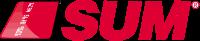 Bright-red SUM ATM logo